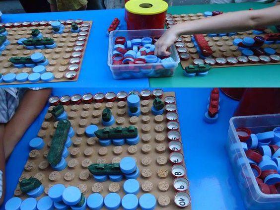 jogos material reciclado batalha naval