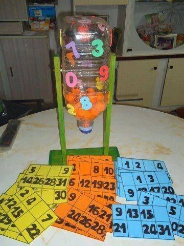 jogos material reciclado bingo