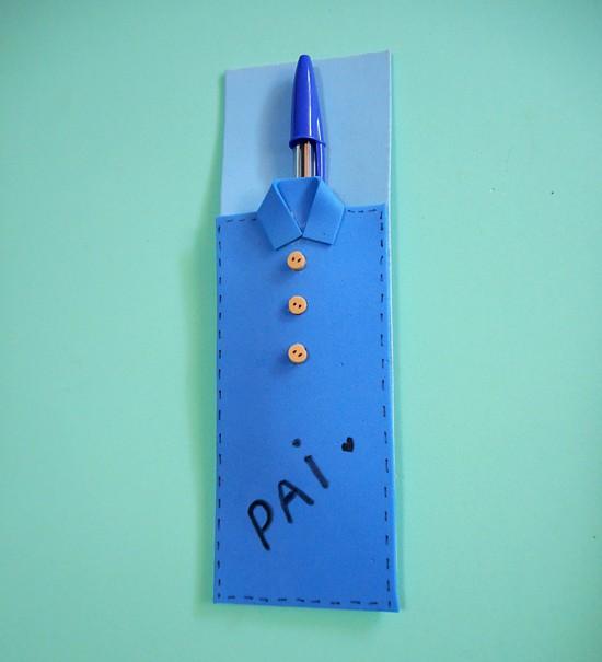 lembrancinha eva dia dos pais porta canetas