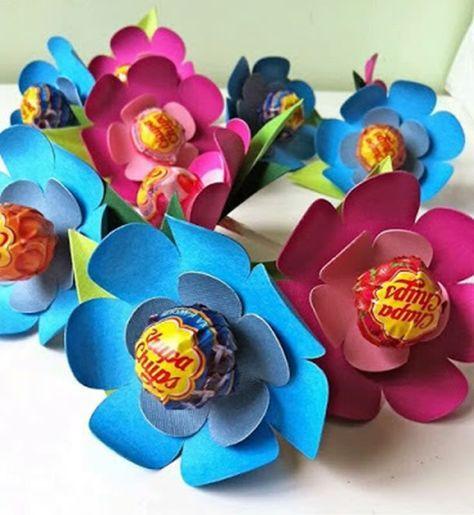 lembrancinhas pirulitos flor