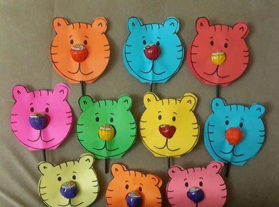 lembrancinhas pirulitos redondos urso
