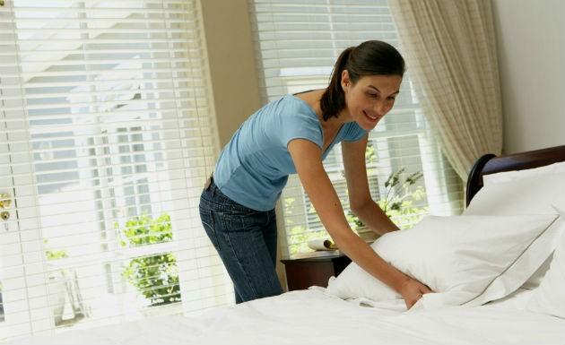 limpar quarto rapido