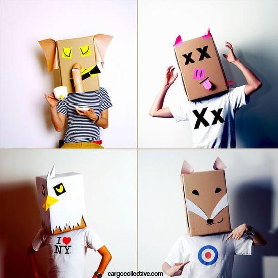 máscaras papelao