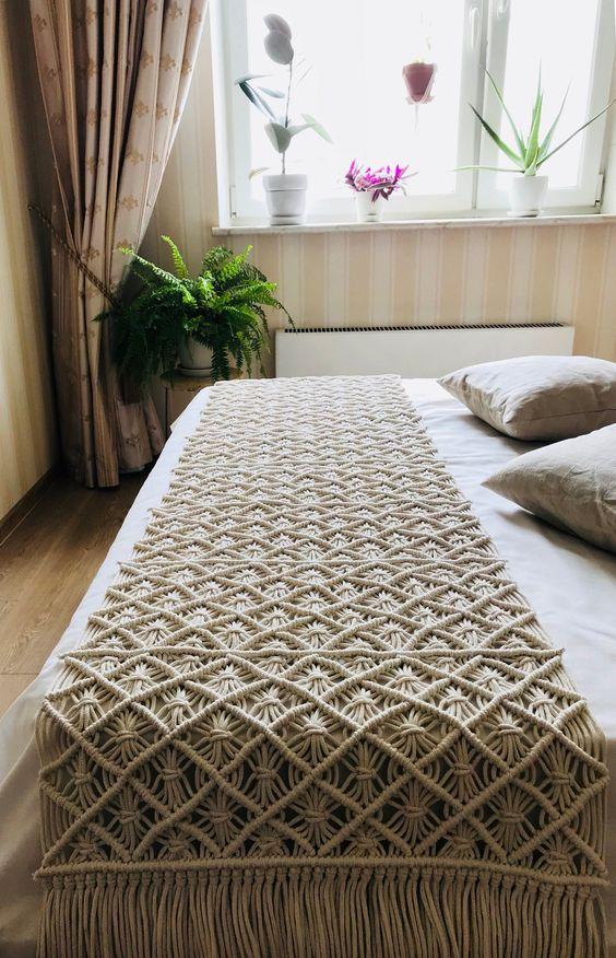 macrame decoracao cama
