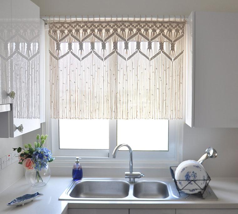 macrame decoracao cortina 1
