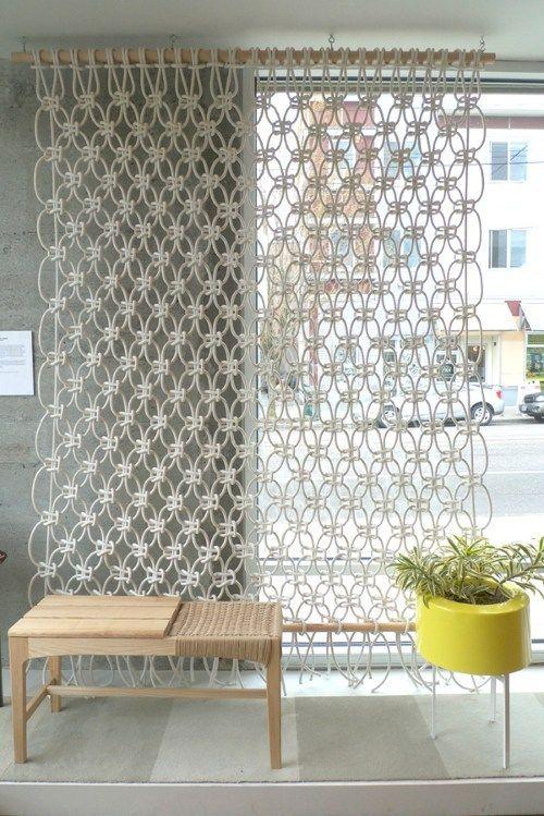 macrame decoracao cortina