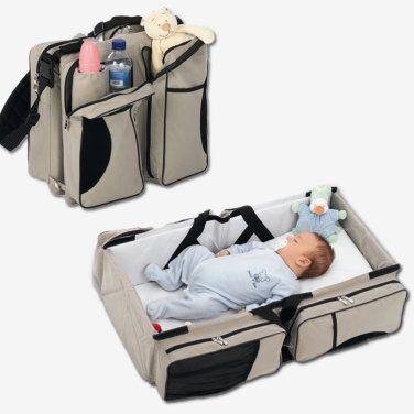 mala que transforma em cama de bebe