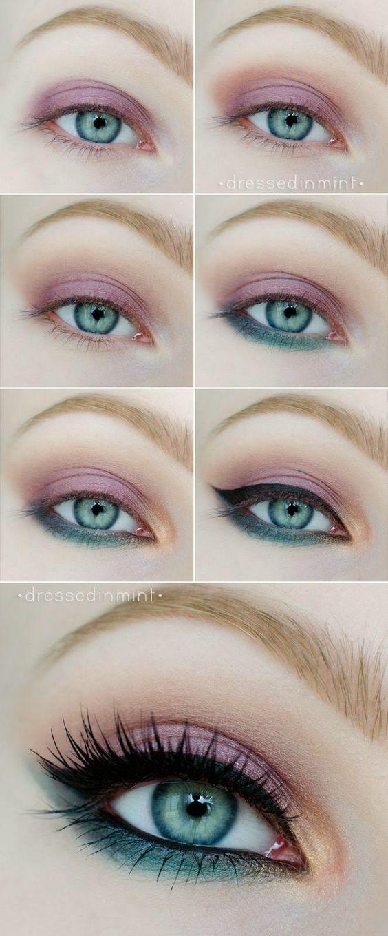 maquiagem olhos festa diy