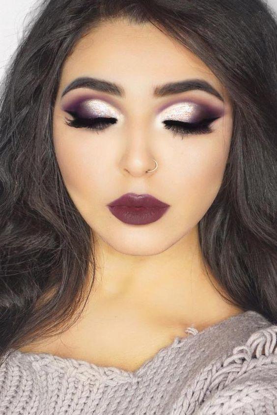 maquiagem sombra prateada 1
