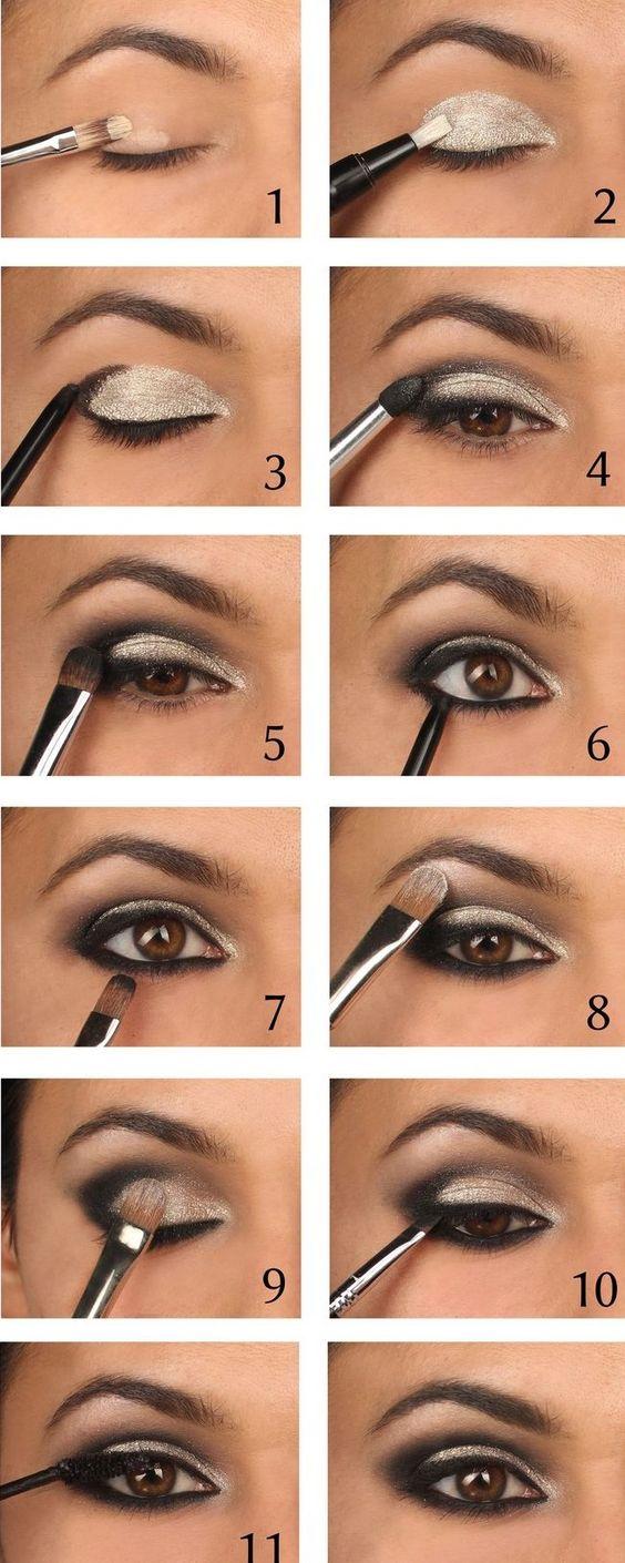 maquiagem sombra prateada 5