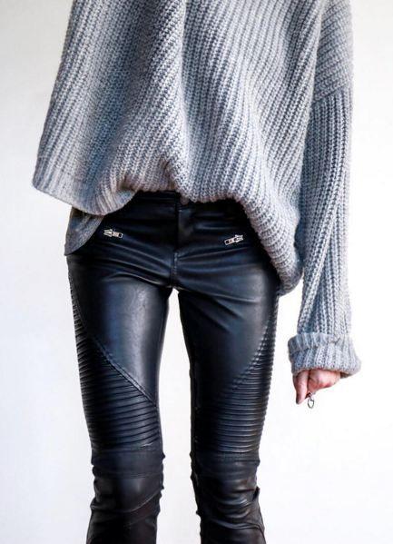moda roupa couro 3