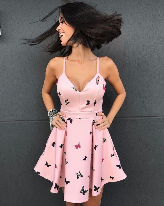 modelo como usar vestido alcinhas festa curto