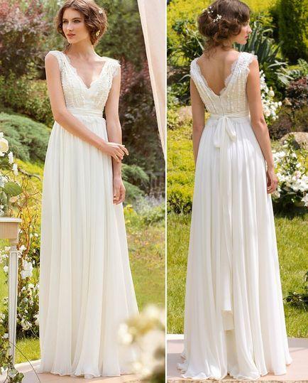 modelo vestido noiva verao renda