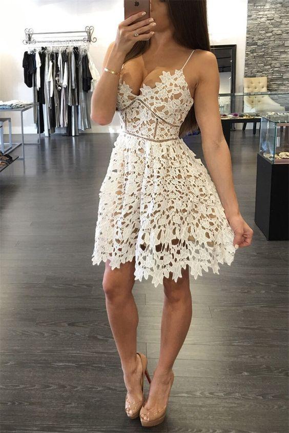 modelo vestido renda curto