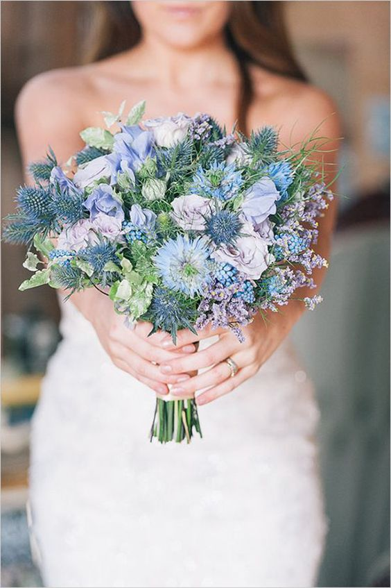 modelos dicas boquet noiva azul