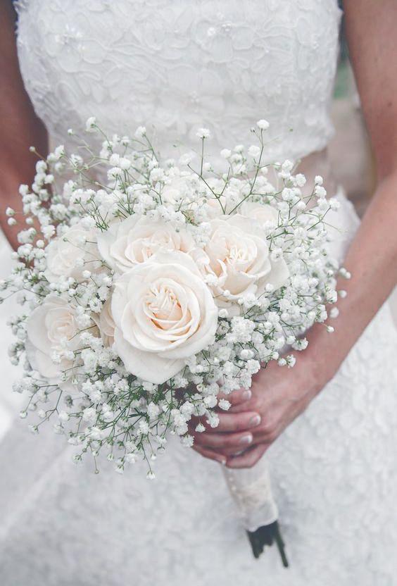 modelos dicas boquet noiva branca