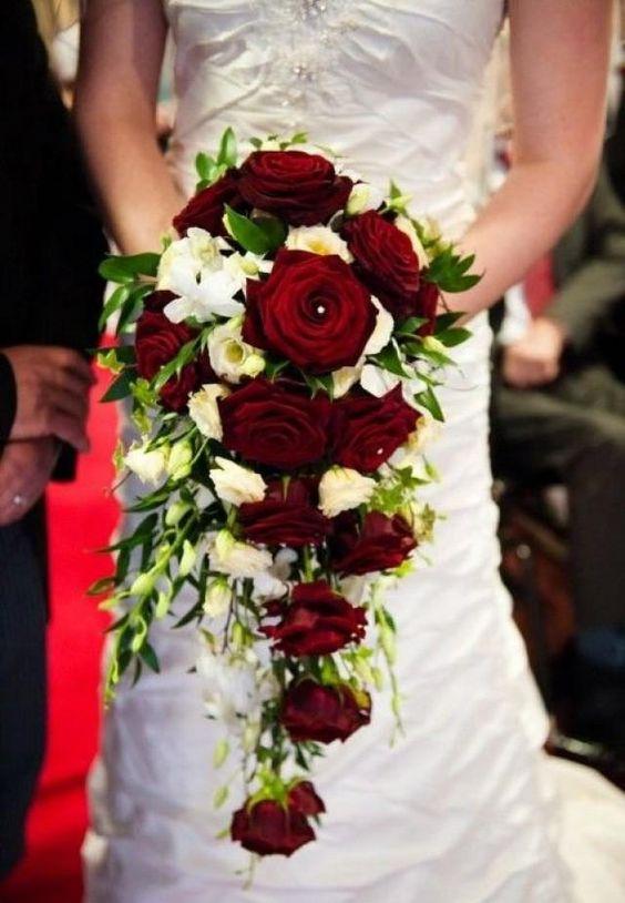 modelos dicas boquet noiva vermelho