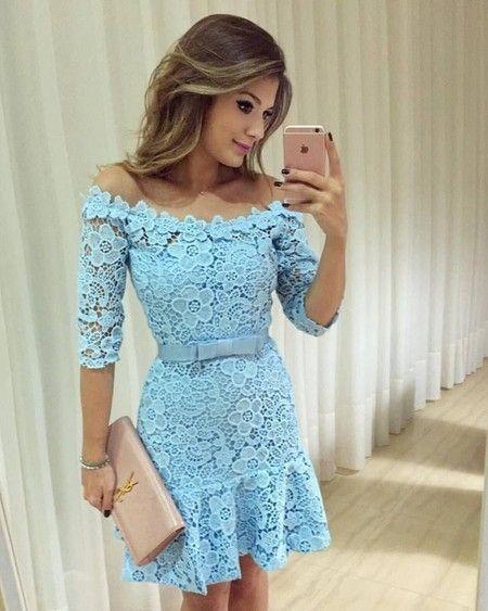 modelos dicas vestidos renda
