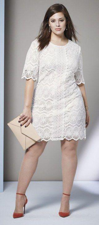 modelos vestidos plus size branco renda