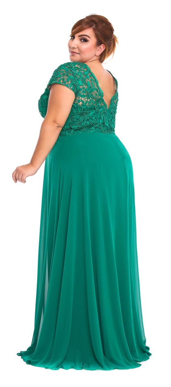 modelos vestidos plus size verde