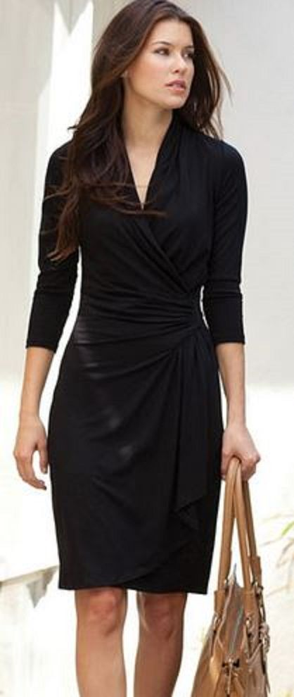 modelos vestidos pretos longos casual