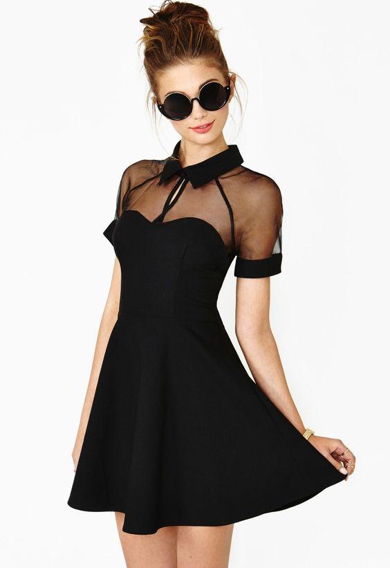 modelos vestidos pretos longos curto
