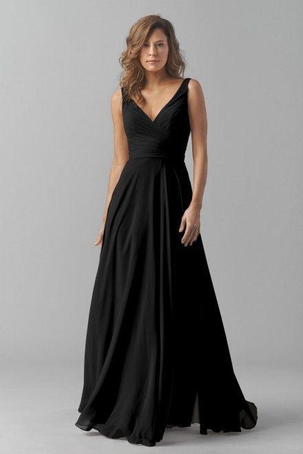 modelos vestidos pretos longos festa simples