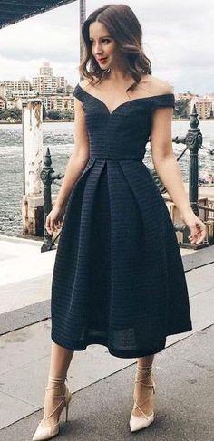 modelos vestidos pretos longos rodado