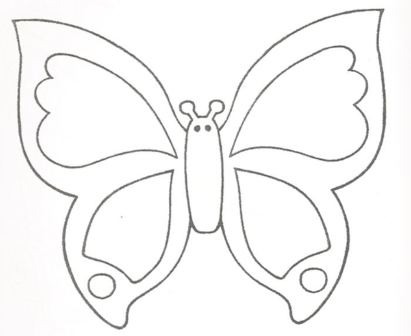 molde borboleta papel 3