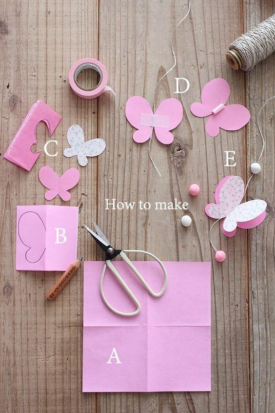 molde borboleta papel como fazer
