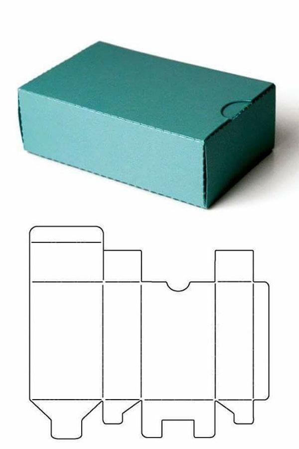 molde caixa papel aniversario simples