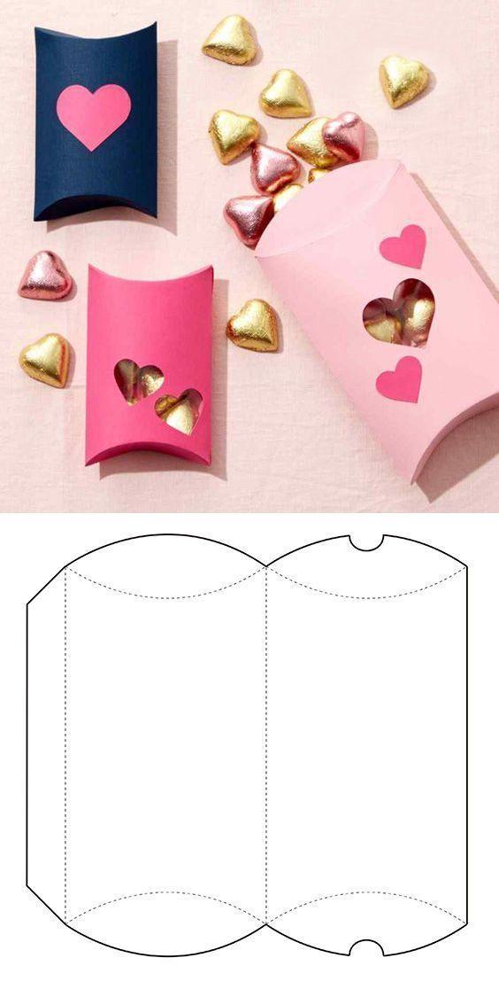 molde caixa papel casamento coracao