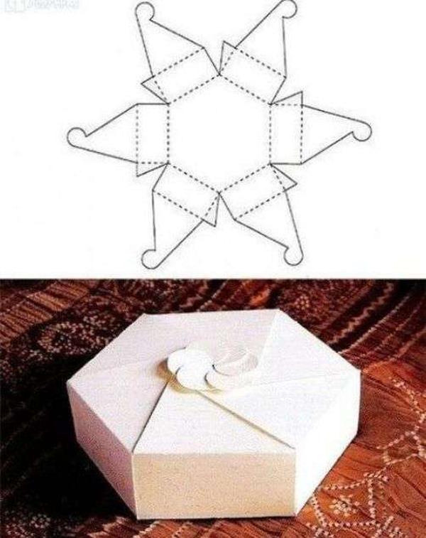 molde caixa papel casamento