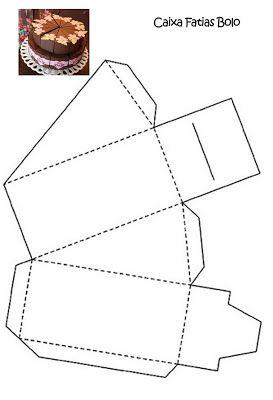 molde caixa papel cha bebe fatias