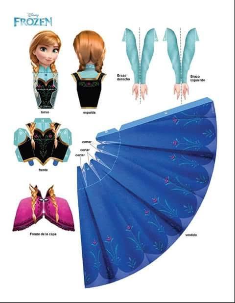 molde princesa ana frozen