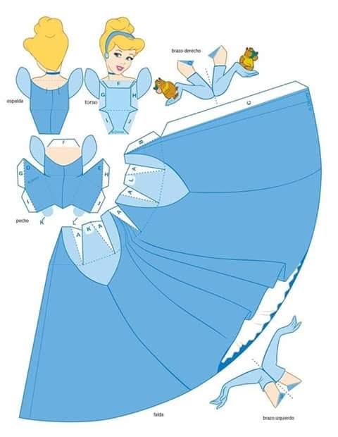 molde princesa cinderela