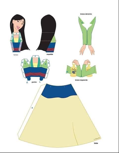 molde princesa india