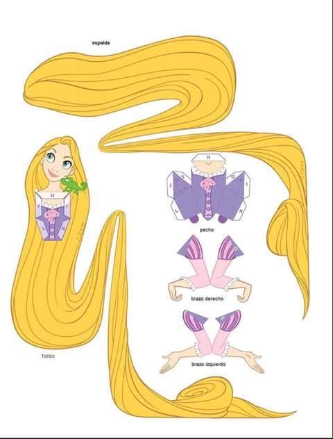 molde princesa rapunzel