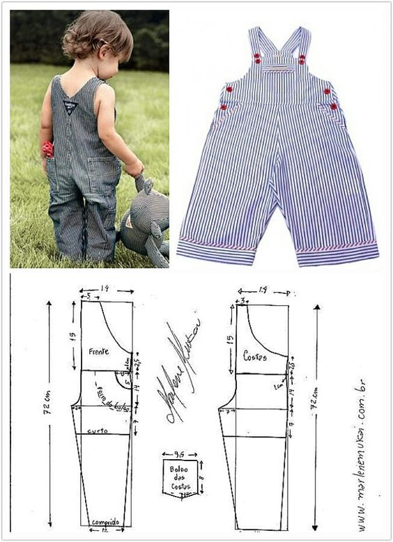 molde roupa criança