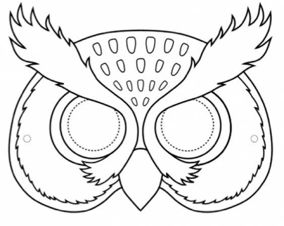 moldes mascaras carnaval coruja