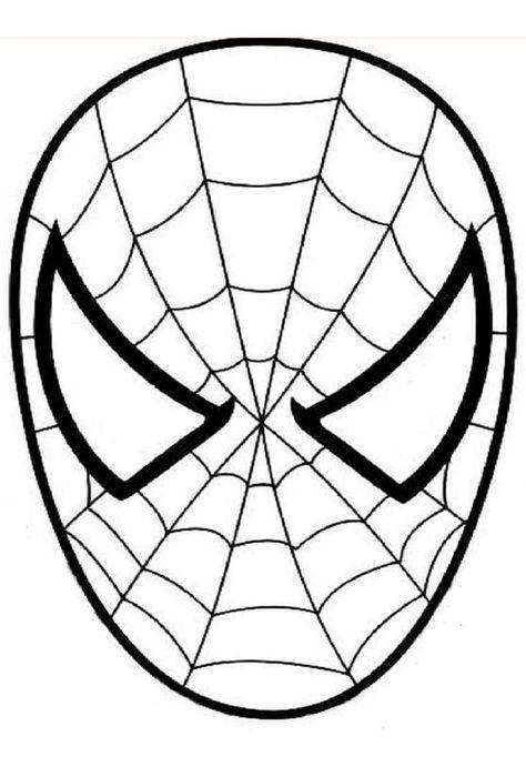 moldes mascaras carnaval homem aranha