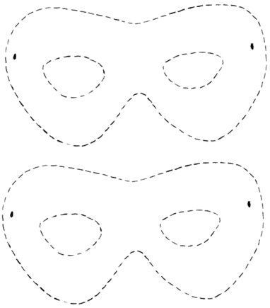 moldes mascaras carnaval simples