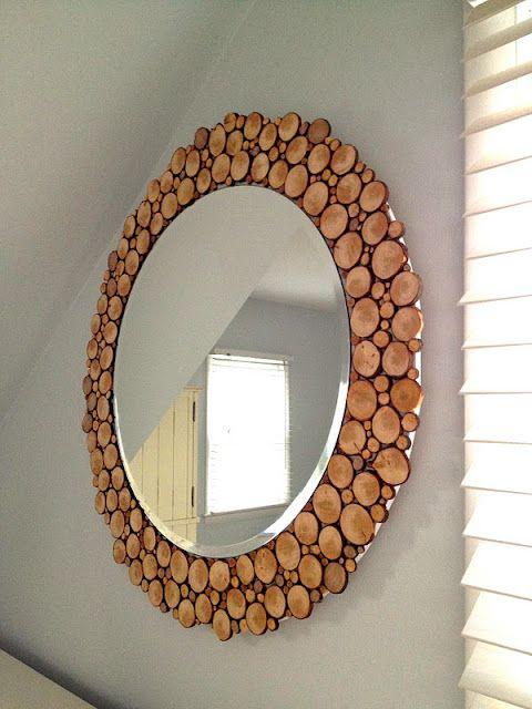 moldura espelho diy madeira