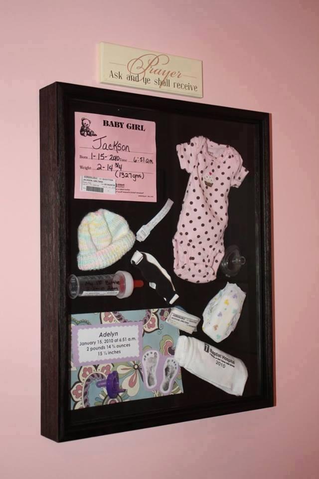 moldura para recordações do bebe