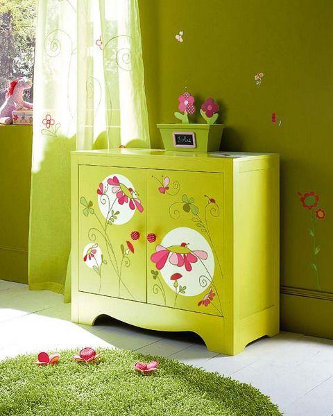 moveis quarto bebe pintados borboletas