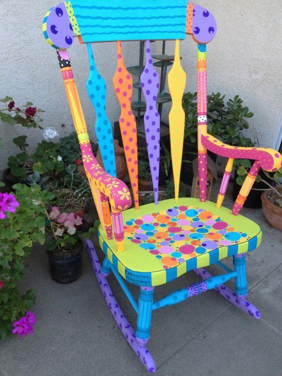moveis quarto bebe pintados cadeira