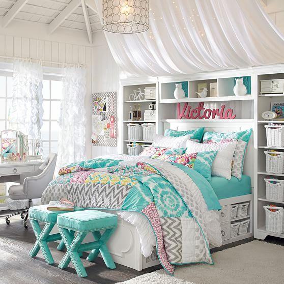 organizar quarto gavetas cama 1