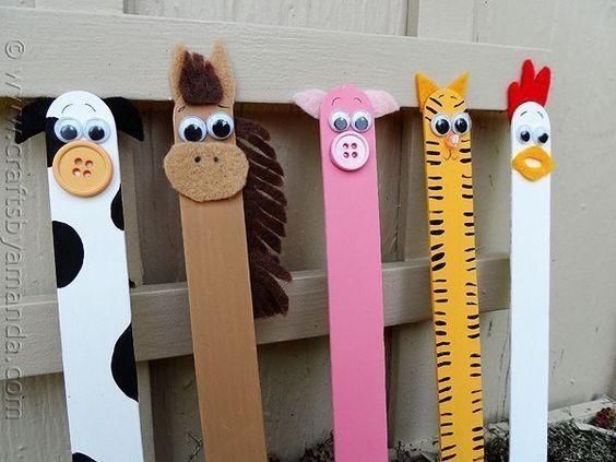 palitos picole animais brinquedo