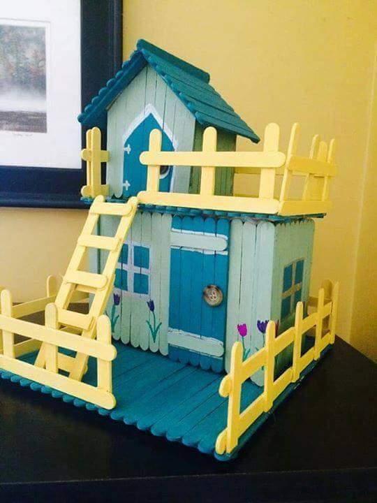 palitos picole casa brinquedo