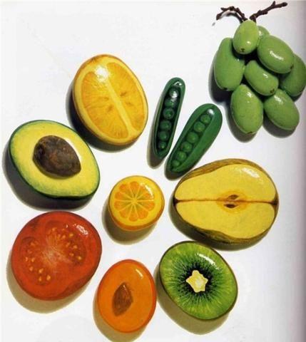 pedras pintadas comida ideias